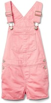 Gap Pink denim short overalls