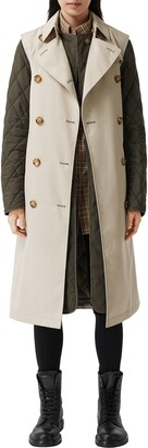 Burberry Sleeveless Trench Coat with Removable Quilted Warmer