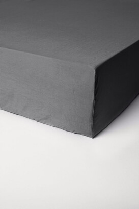 H&M Fitted Cotton Sheet - Gray