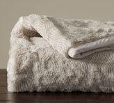 Pottery Barn Quail Faux Fur Throw - Taupe