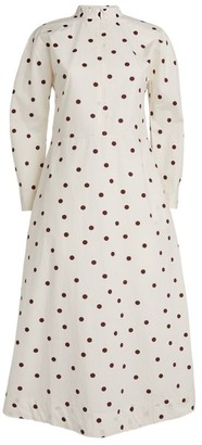 Ganni Polka-Dot Dress