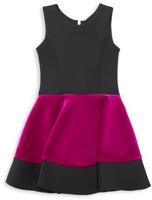 Zoe Girl's Miranda Colorblock Flare Dress