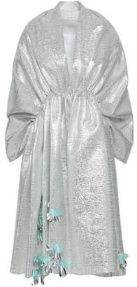 DELPOZO Sequin-embellished Metallic Striped Organza Jacket