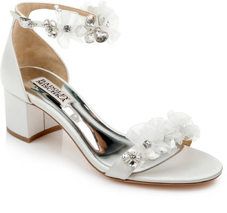 Badgley Mischka Candy Crystal Beaded Satin Sandals