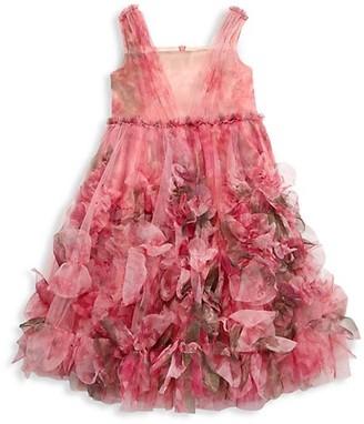 Marchesa Notte Mini Little Girl's Juliet Floral Applique Fit-&-Flare Dress