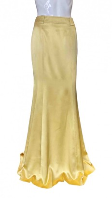 Roberto Cavalli Yellow Silk Skirt for Women