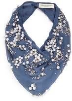 Mignonne Gavigan 'Harper' embellished silk crépon scarf necklace