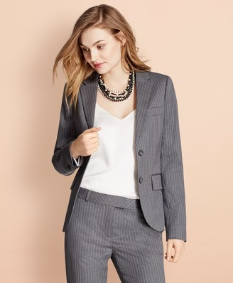 Brooks Brothers Pinstripe Stretch Wool Two-Button Jacket