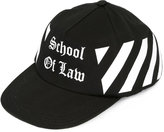Off-White School of Law printed cap - women - Cotton - One Size