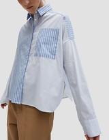 Open Sleeve Mixed Stripe Shirt