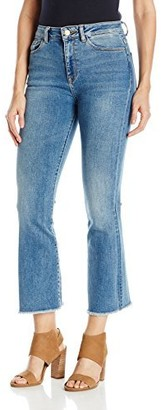 DL1961 Women's Jackie Trimtone Cropped Flare Jeans in Marker 27