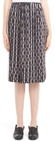 Loewe Women's Zigzag Print Pleated Skirt