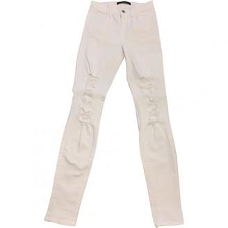 J Brand White Cotton - elasthane Jeans for Women