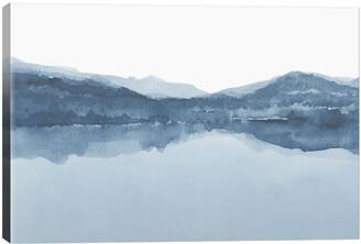 iCanvas Watercolor Landscape Iii Shades Of Blue Wall Art