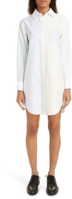 Thom Browne Stripe Long Sleeve Oxford Shirtdress