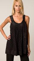 Black Eyelet Crochet Tunic