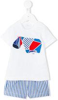 Il Gufo T-shirt and short set - kids - Cotton/Spandex/Elastane - 6 mth