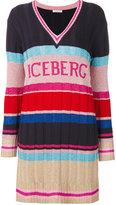 Iceberg V-neck dress - women - Polyamide/Polyester/Viscose - XS
