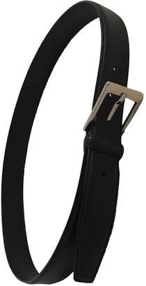 Ermenegildo Zegna Black Leather Belts