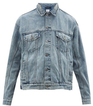 Ksubi Oh G Distressed Denim Jacket - Mens - Light Blue