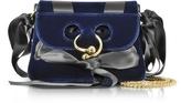 J.W.Anderson Midnight Blue Mini Pierce Velvet Bag