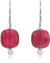 Antica Murrina Veneziana Florinda Ruby Murano Glass Sterling Silver Earrings