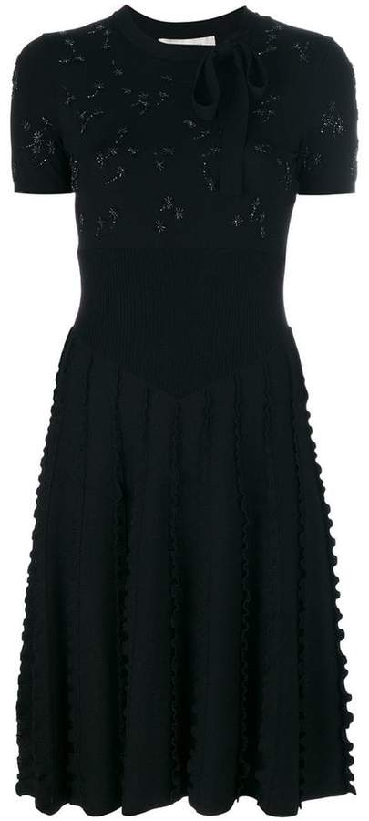 Valentino embellished knit dress