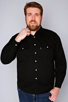 Yours Clothing DUKE Black Denim Shirt