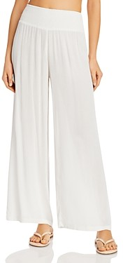 Ralph Lauren Ralph Smocked-Waist Swim Cover-Up Pants