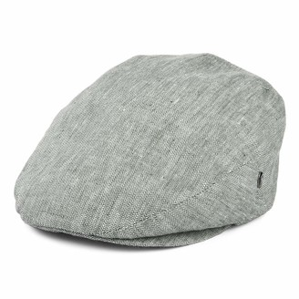 City Sports Micro Herringbone Linen Flat Cap - Forest 7 1/2