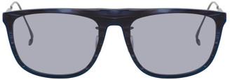 Issey Miyake Navy and Black Square 6 Sunglasses