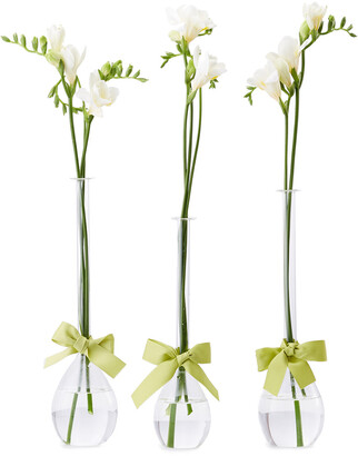 Twos Company Two's Company Sleek & Chic Set Of 3 Tear Drop Vase