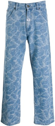 MSGM High-Rise Straight Jeans