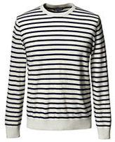 Lands' End Men's Breton Stripe Cashmere Crewneck Sweater-Wrought Iron