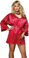 Unknown Plus Size Lingerie Sexy Charmeuse Satin Robe Set