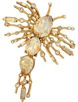 Oscar de la Renta Radial Crystal Brooch Brooches Pins