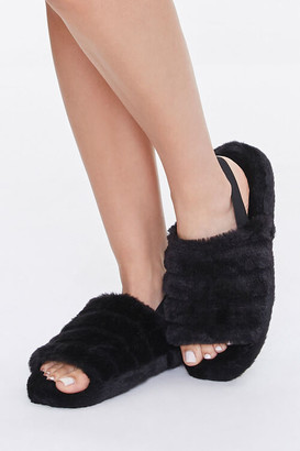 Forever 21 Plush Tiered Slippers