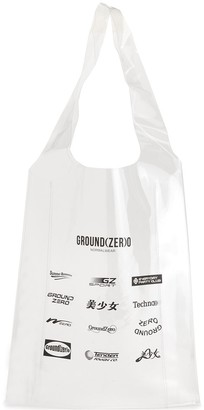 Ground Zero All Over Logos Print Tote Bag