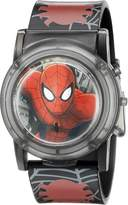 Marvel Spider-Man Kids' SPD3500SR Digital Display Analog Quartz Black Watch