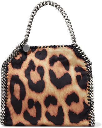 Stella McCartney Falabella Mini Leopard-print Velvet Tote