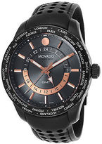 Movado 2600118 Men's Series 800 GMT Black Genuine Leather and Dial