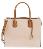 MICHAEL Michael Kors Large Mercer Colorblock Leather Tote - Pink