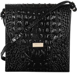 Brahmin Black Melbourne Embossed Leather Kimmie Crossbody