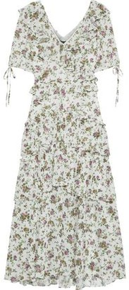 Marissa Webb Deandra Tiered Floral-print Georgette Midi Dress