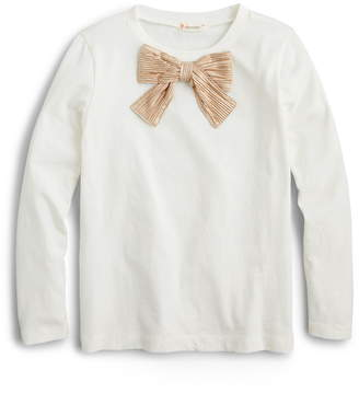 J.Crew crewcuts by Shimmer Bow Tee