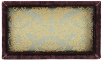 Antico Setificio Fiorentino Peacock Silk Damask Valet Tray