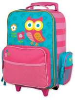 Stephen Joseph Owl Rolling Luggage in Pink