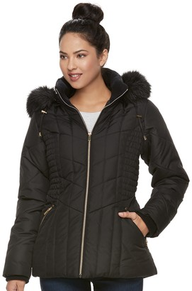 Details Women's Hooded Quilted Puffer Jacket