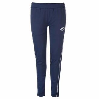 Lonsdale London Womens Interlock Jogging Bottoms Jersey Trousers Pants Elasticated Trim Navy 10 (S)