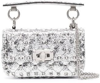 Valentino Rockstud Spike glitter-effect mini bag